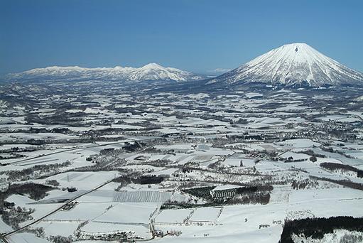 ルスツ山頂からの眺め